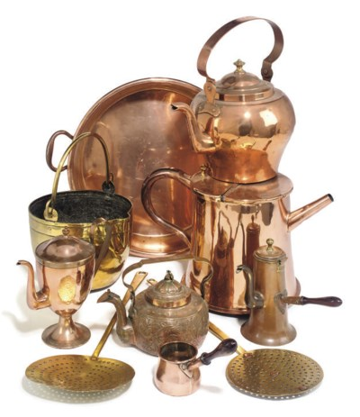 ASSORTED BRASS AND COPPER DOME