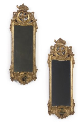 A PAIR OF ITALIAN GILT GIRANDO