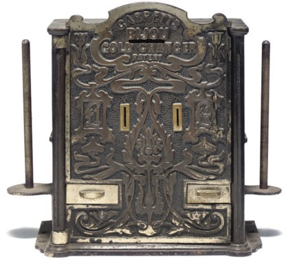 A LATE VICTORIAN IRON MONEY CH