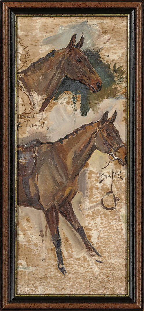 Study of horses and the snaffle