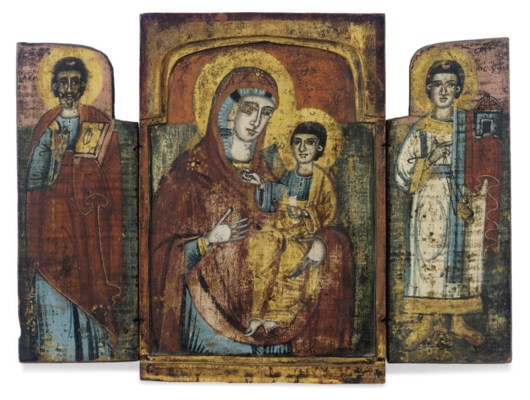 A TRIPTYCH WITH THE HODEGETRIA