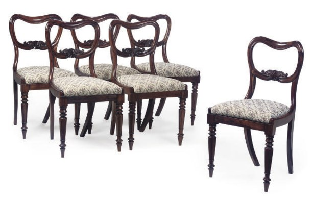 A SET OF SIX EARLY VICTORIAN R