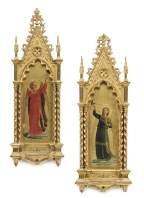 A PAIR OF FLORENTINE PAINTED W