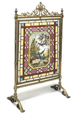 A LATE VICTORIAN STAINED GLASS