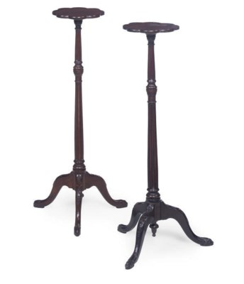 A MATCHED PAIR OF MAHOGANY CAN