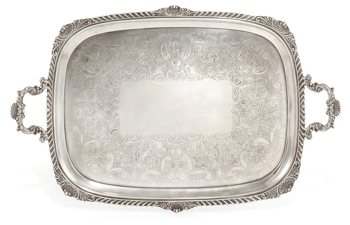 A LATE VICTORIAN SILVER TWO-HA
