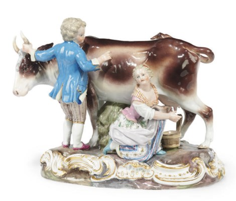 A MEISSEN PASTORAL GROUP