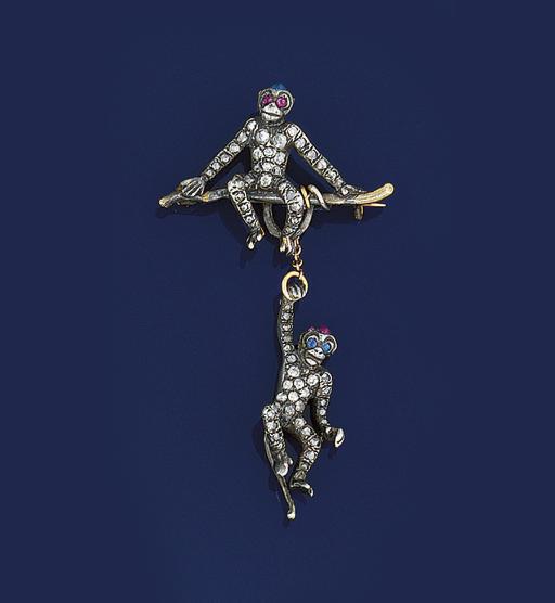 A diamond and gem novelty broo