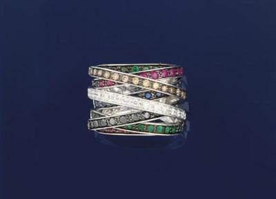 A multi-gem set ring
