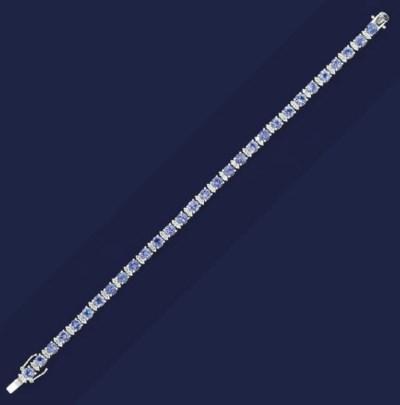 A tanzanite and diamond bracel
