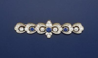 An Edwardian diamond and sapph