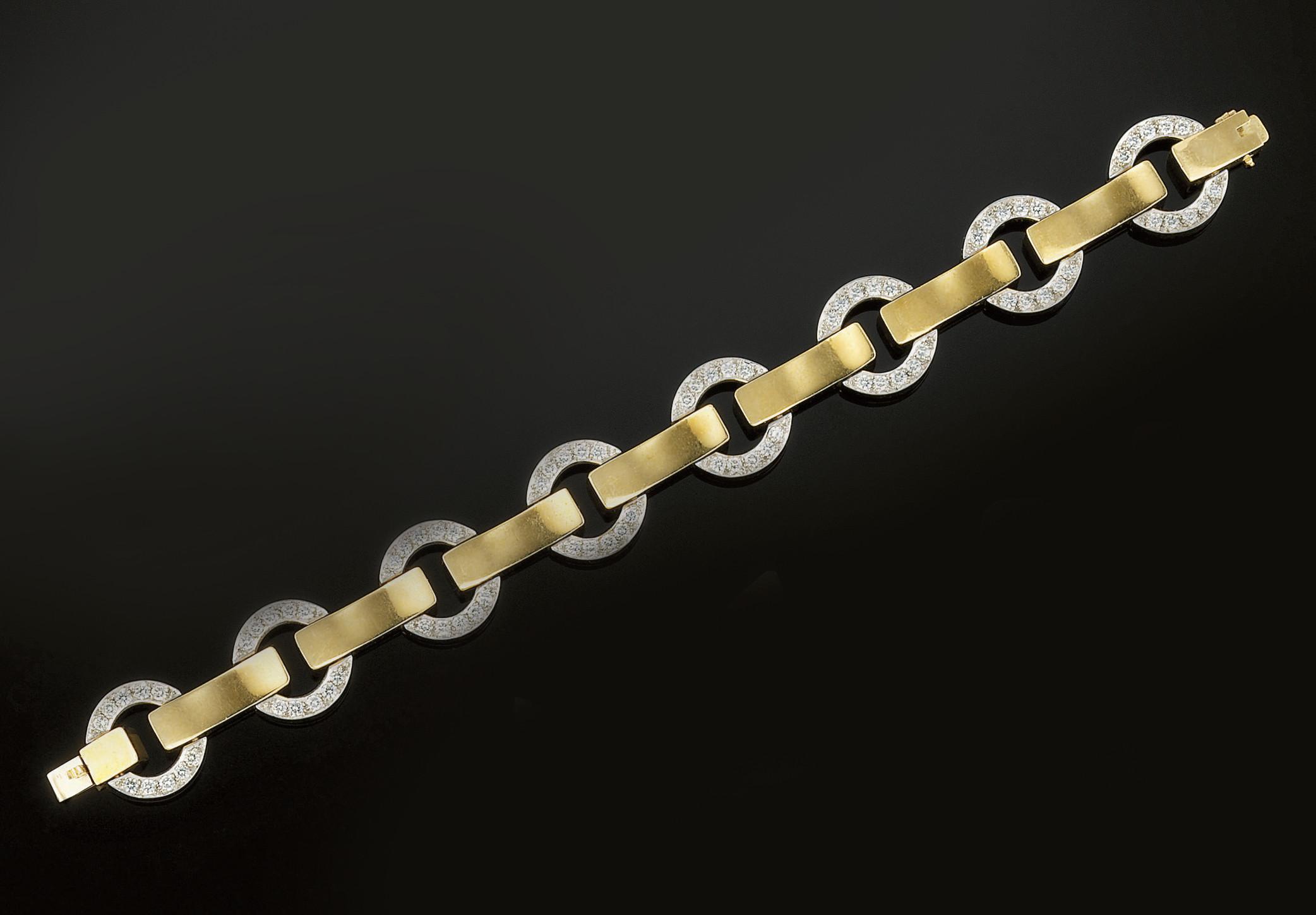 A diamond bracelet, by Birks