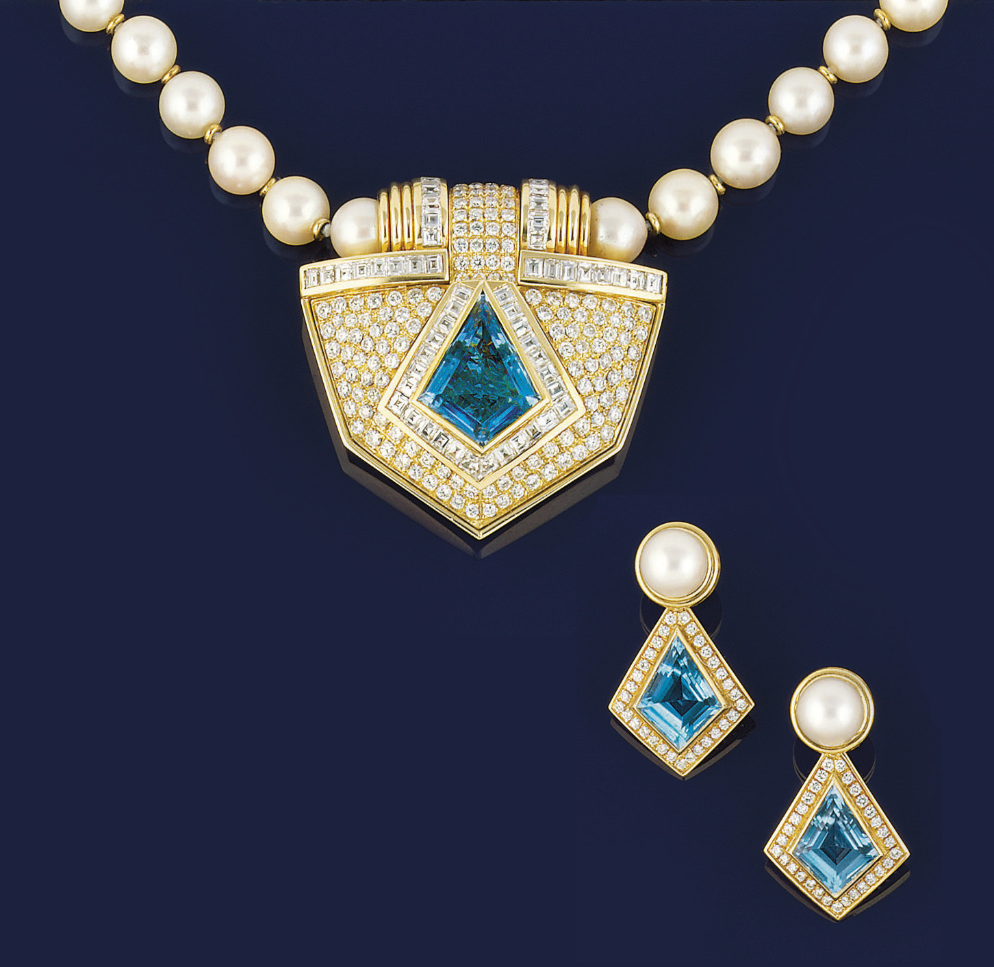 A DIAMOND, BLUE TOPAZ AND CULT
