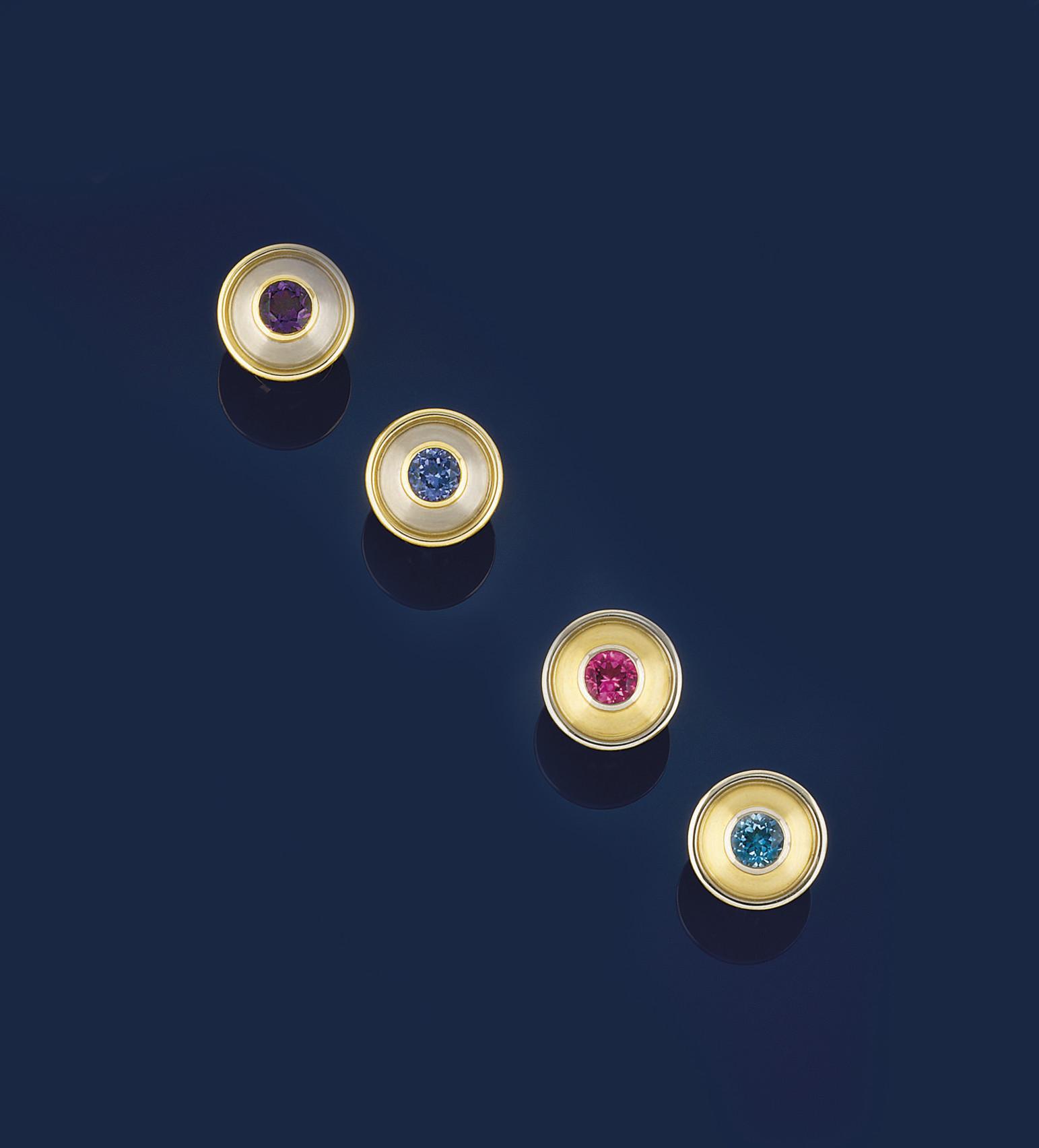 Two pairs of vari-gem cufflink