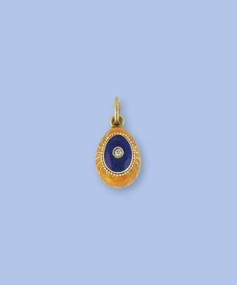 A gold, diamond and enamel egg
