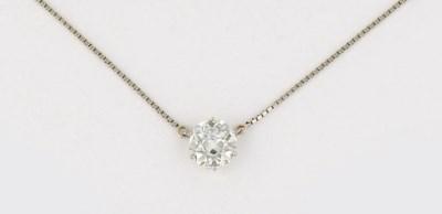A diamond single stone pendant