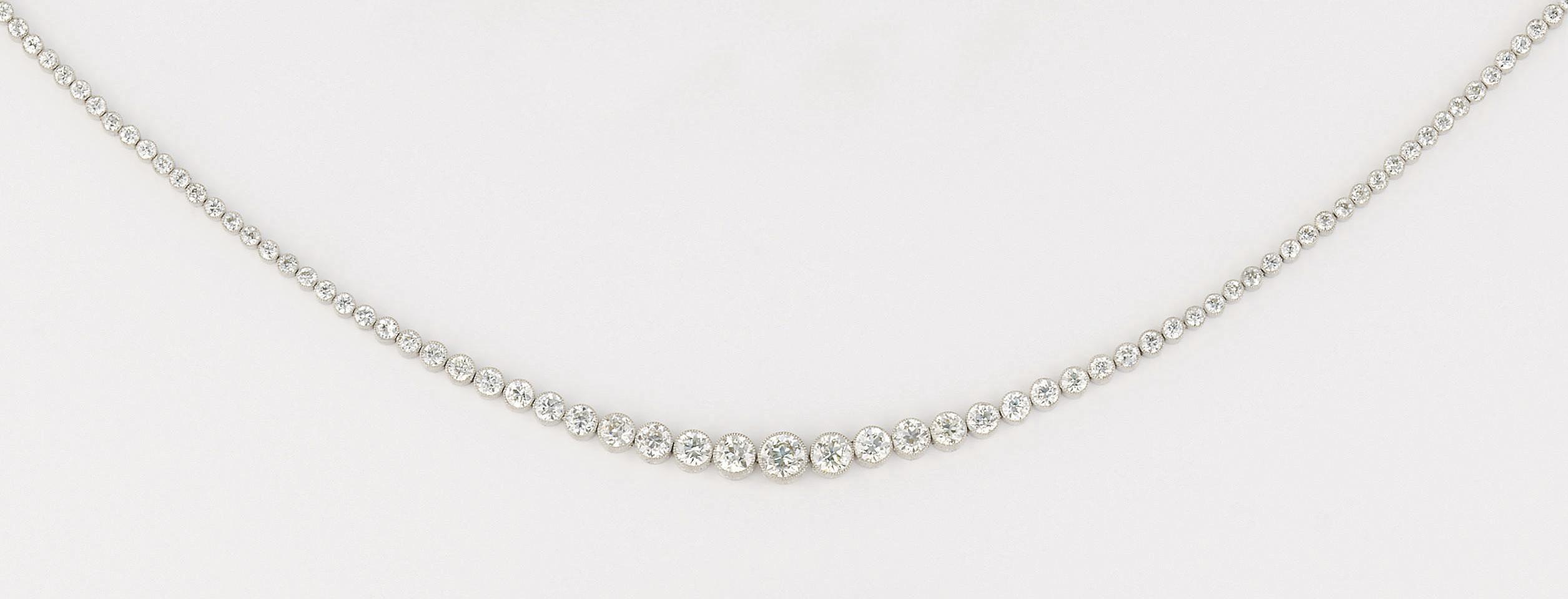 An Edwardian diamond tiara/nec