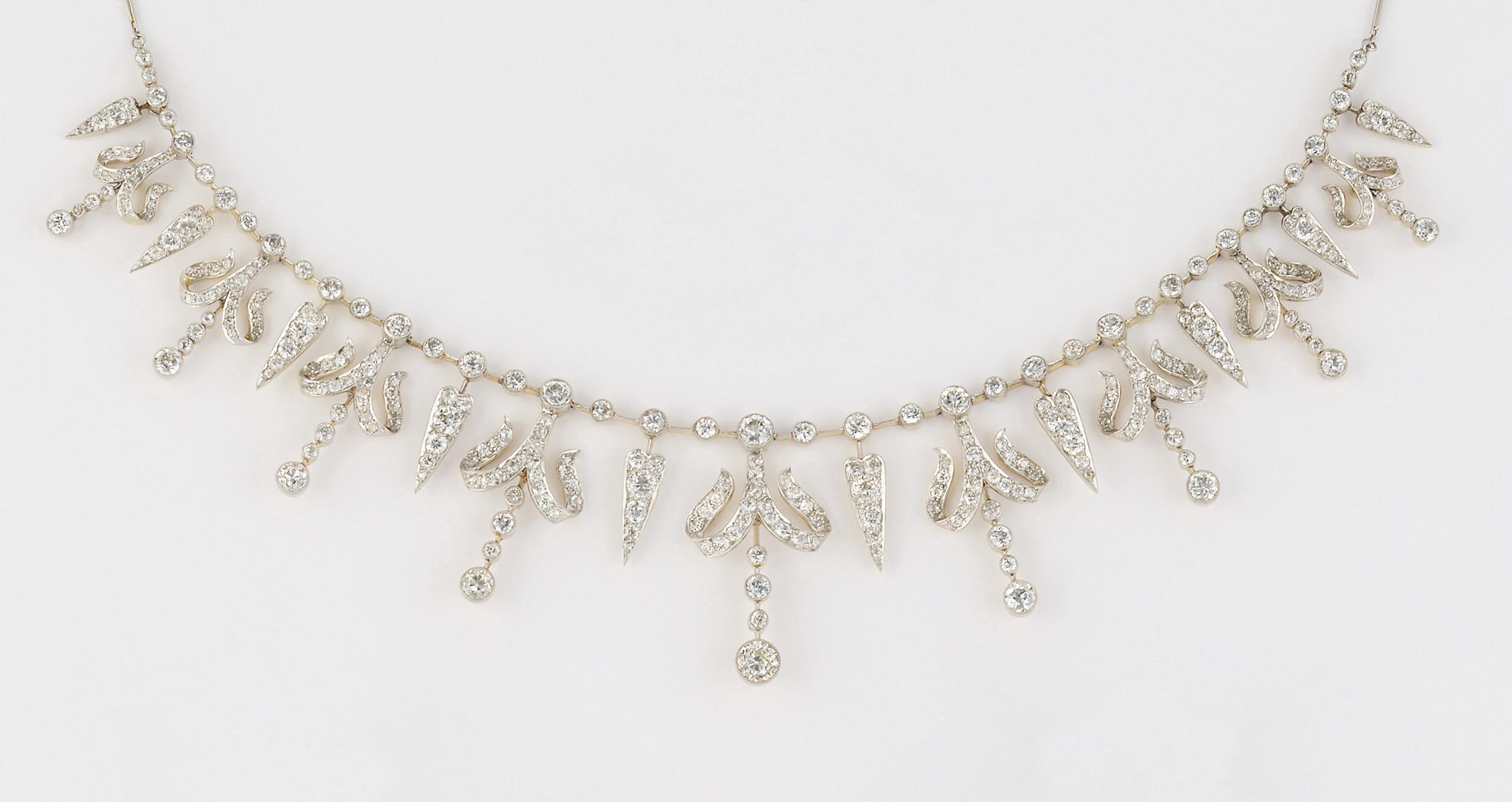 A late 19th century diamond fr