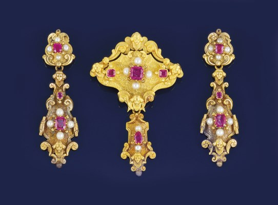 A 19th century French gold, ru