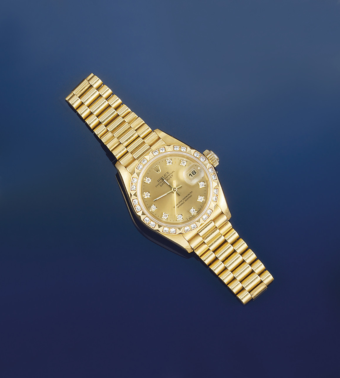 A lady's 18ct. gold, diamond s