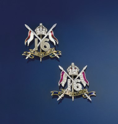 Two regimental badge brooches