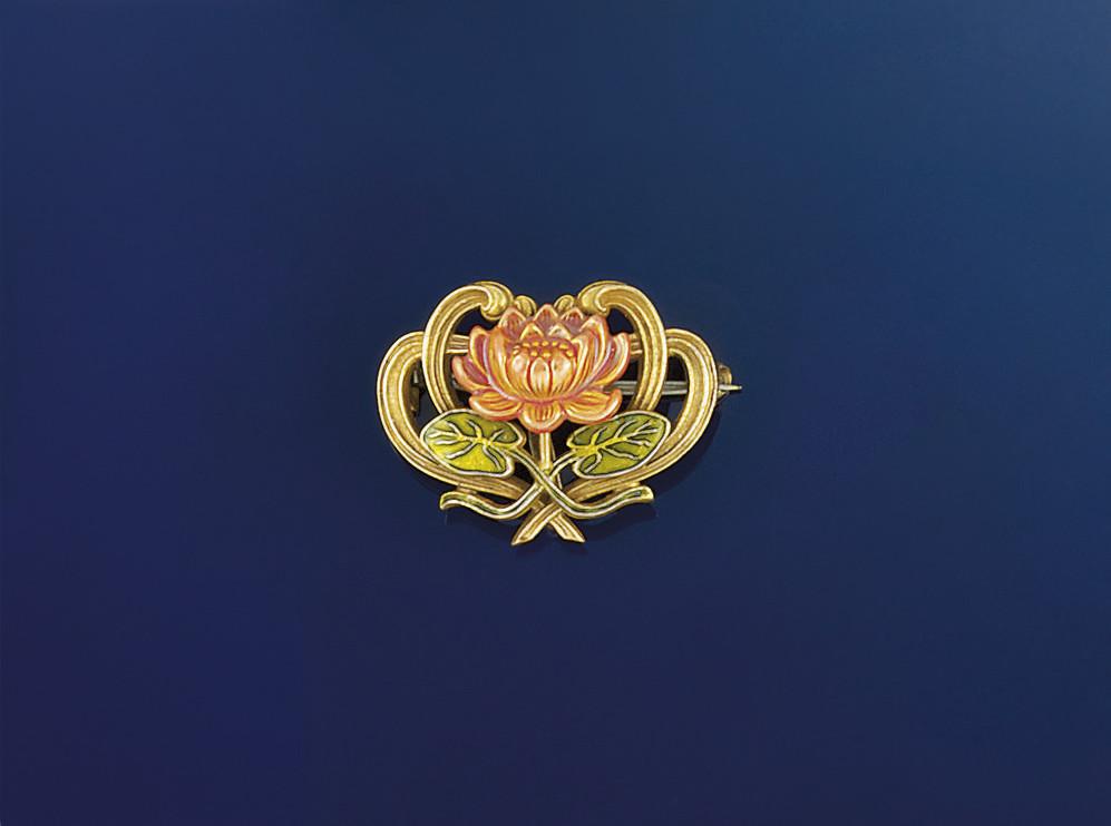 A Russian Art nouveau pendant