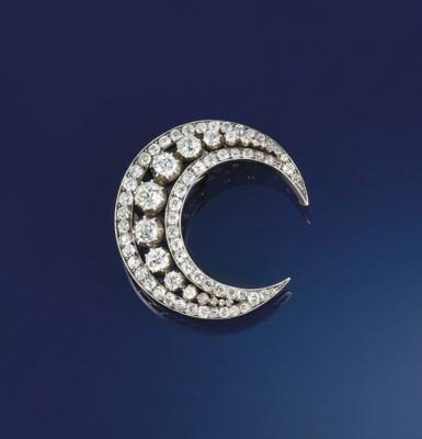 A Victorian diamond crescent b