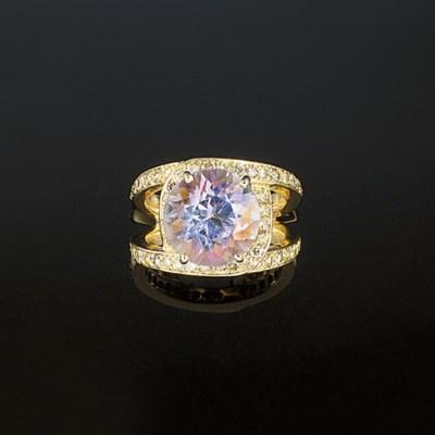 A kunzite, diamond and coloure