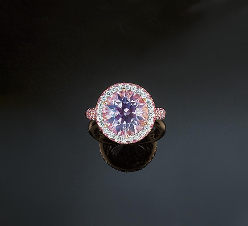 A kunzite, diamond and pink sa