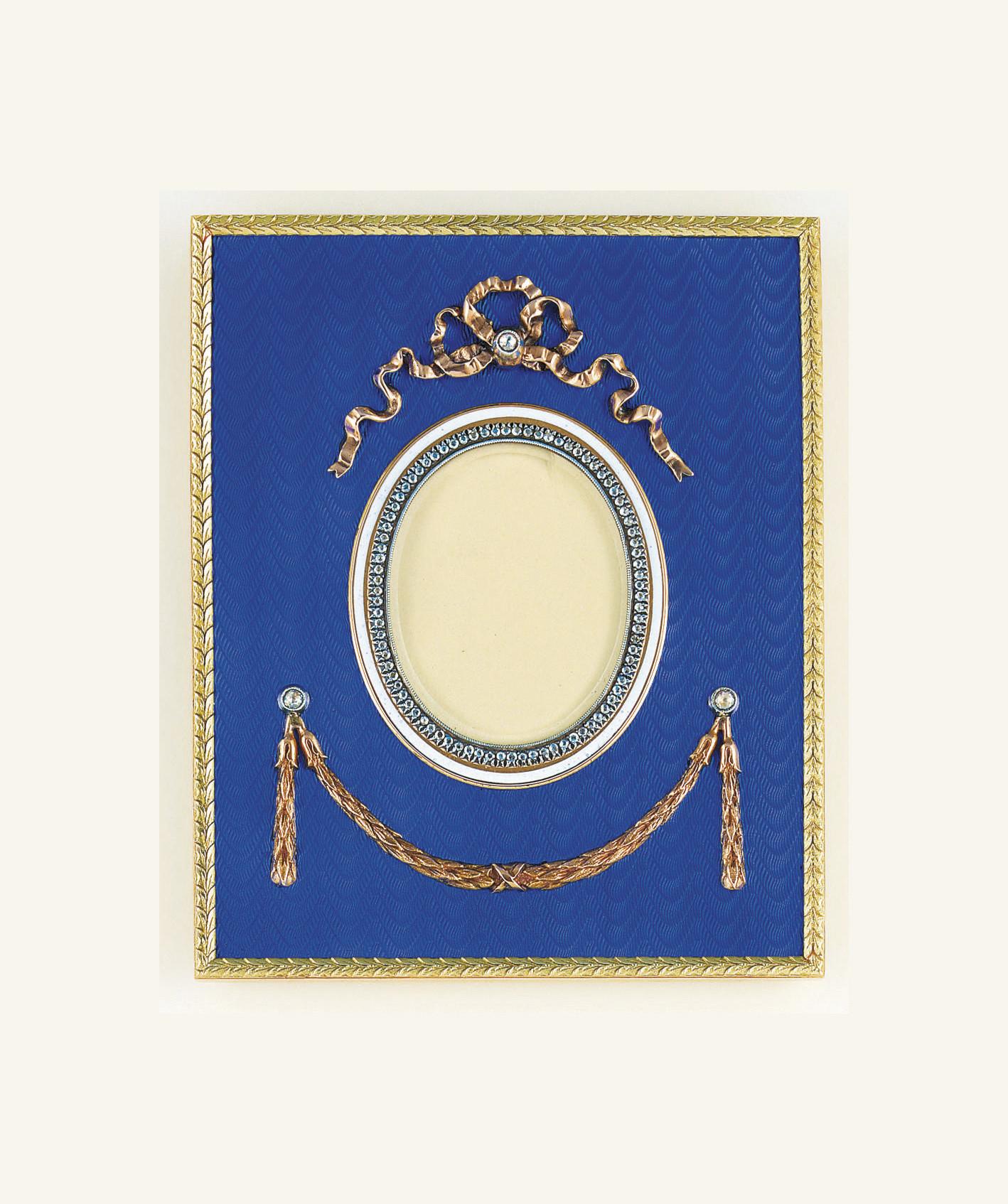 An enamel and diamond photogra