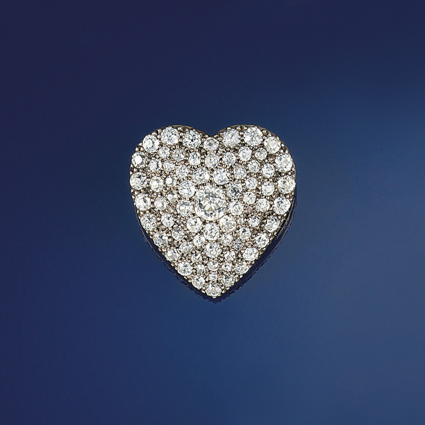A late 19th century diamond br