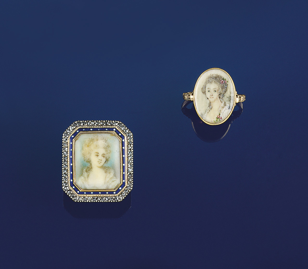 Two late 18th century gold por