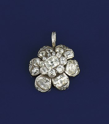 A 19th century diamond flowerh