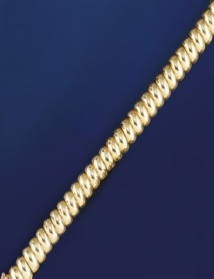 An 18ct. gold bracelet, by Car