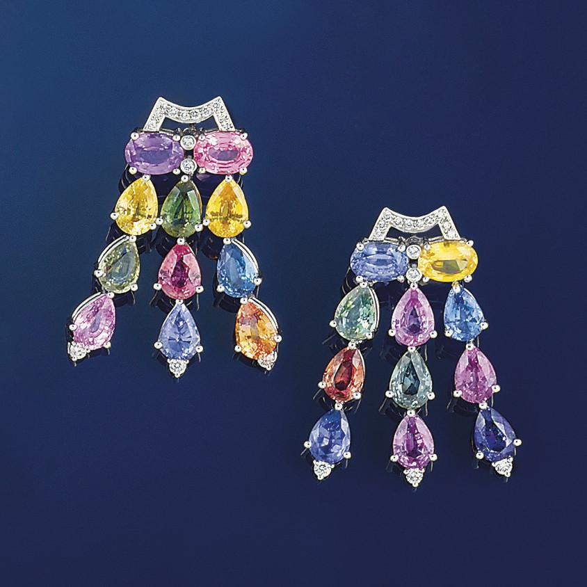 A pair of diamond and vari-col