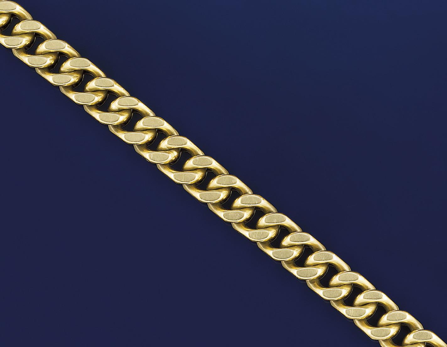 An 18ct. gold bracelet