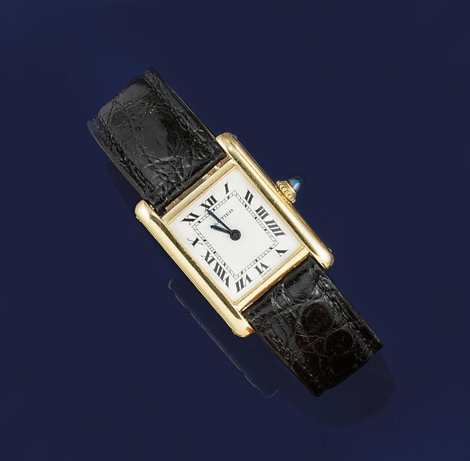 A lady's tank wristwatch, by C