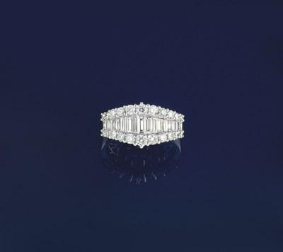 A diamond half hoop ring