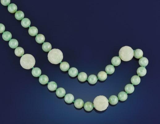 A jadeite necklace