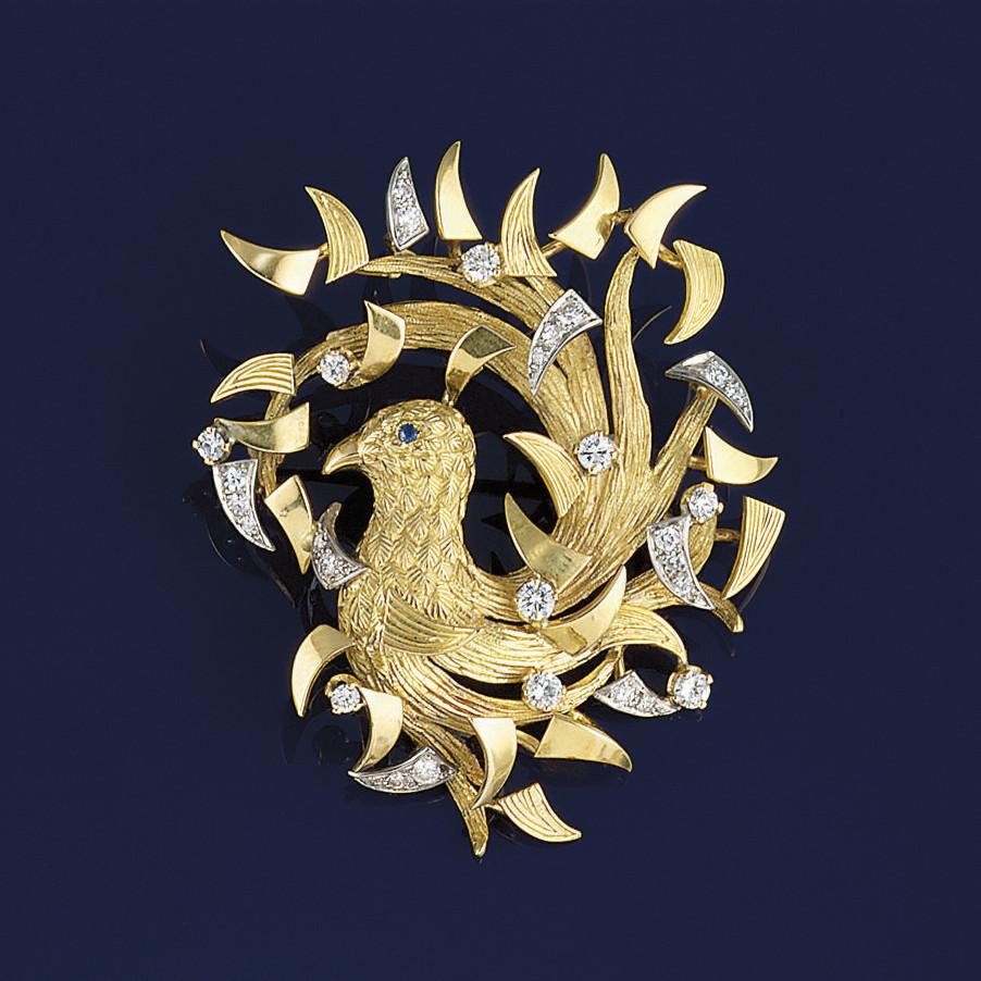 A diamond set brooch