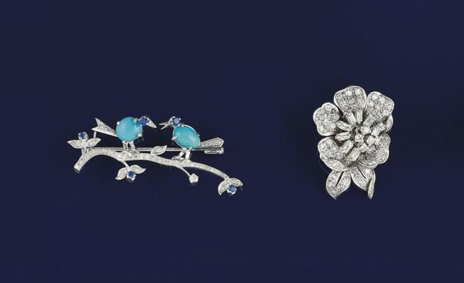 A diamond pendant and a diamon