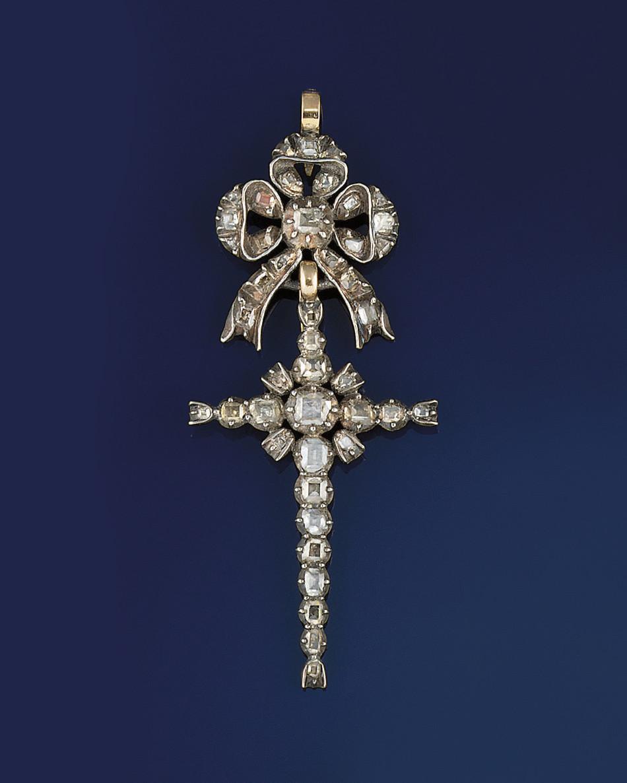 A late 18th century diamond pe