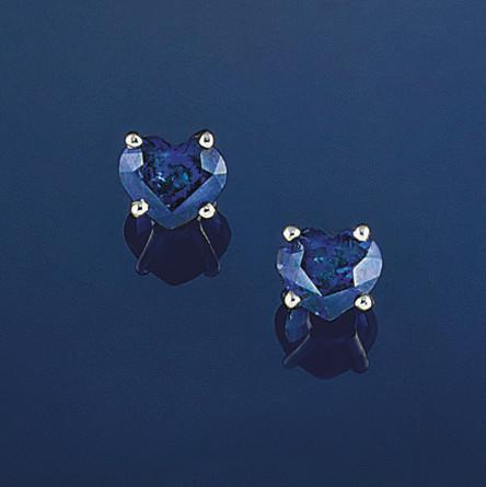 A pair of sapphire single ston