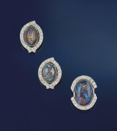 AN OPAL-IN-MATRIX AND DIAMOND