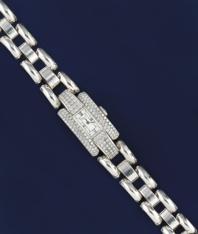 An 18ct. white gold and diamon