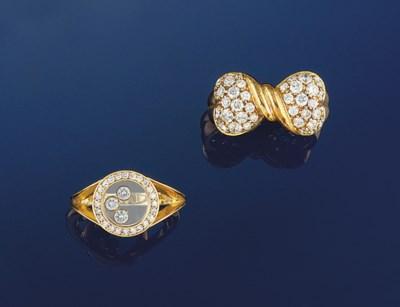 Three diamond set rings