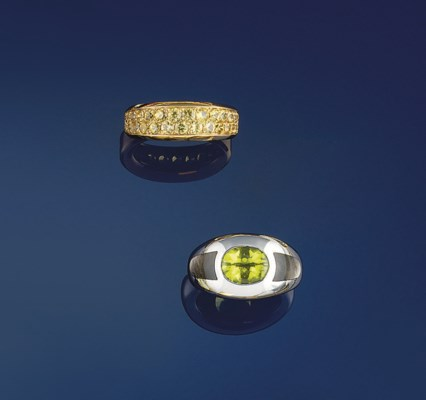 Two gem rings, by Mauboussin