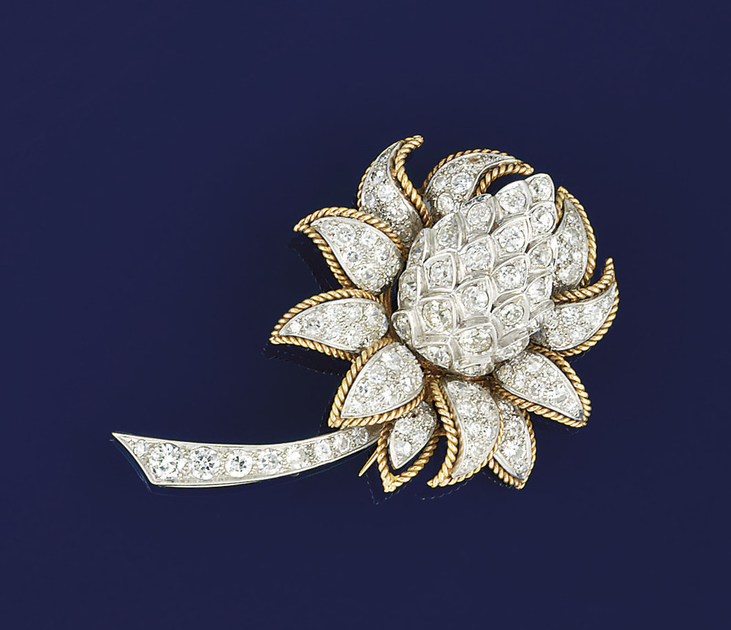 A diamond brooch, by Vourakis
