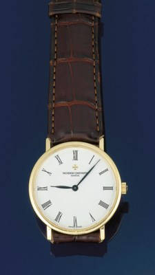 An 18ct. gold wristwatch, by V