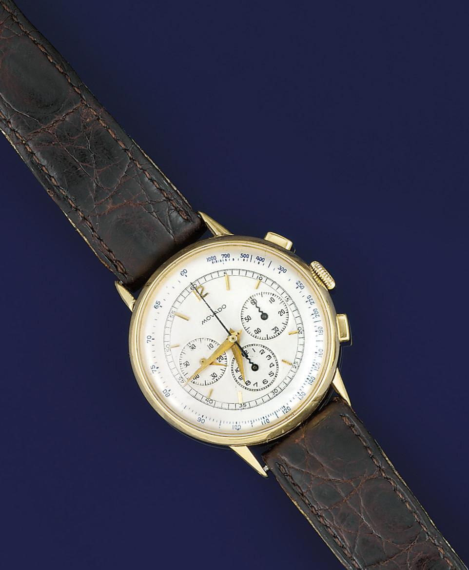 A chronograph wristwatch, by M
